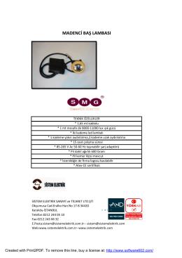 madenci baş lambası - sistemelektrik.com.tr