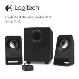 Logitech® Multimedia Speaker Z213 Setup Guide