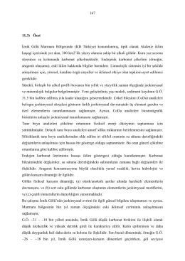 167 11.3) Özet İznik Gölü Marmara Bölgesinde (KB Türkiye