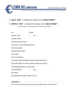 (2.trimester tarama testi) bilgi formu