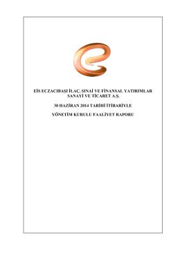 2014 YK Faaliyet Raporu