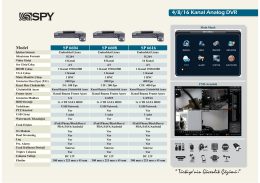sp 6616 teknik broşür