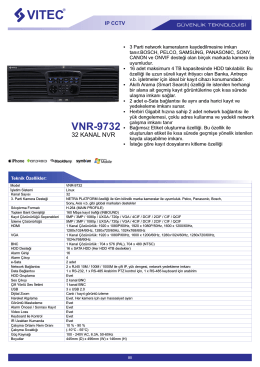VNR-9732 - Bilgi Elektronik
