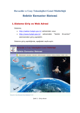 1. Program Kullanım Kılavuzu - Havacılık ve Uzay Teknolojileri