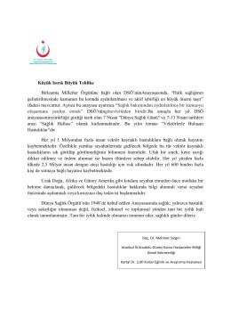 Küçük Isırık Büyük Tehlike - İstanbul Anadolu Güney Kamu