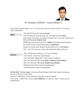 Dr. Mustafa AZMAN – Genel Müdür V.