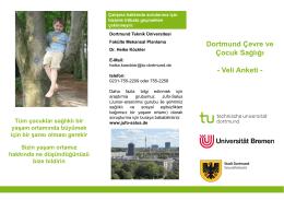 Dortmund Çevre ve Çocuk Sağlığı - Veli Anketi -