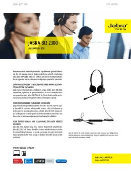 JABRA BIZ 2300 - Jabra.com.tr