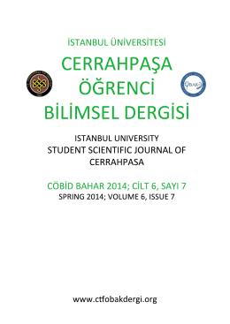 Prof.Dr. Serdar Bulun - CERRAHPAŞA ÖĞRENCİ BİLİMSEL DERGİSİ