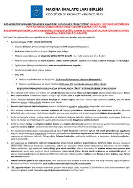 Başvuru Hakkında Bilgiler (pdf)
