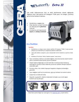 HP Designjet T7100 için üretilmiş GERA Katlama