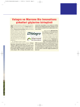 Valagro ve Marrone Bio Innovations