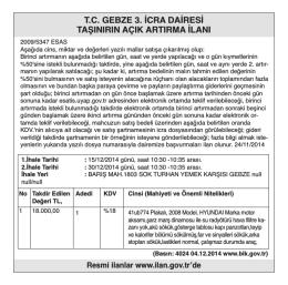 t.c. gebze 1. icra dairesi