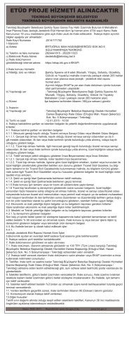 22 Aralık 2014 ETÜD PROJE HİZMETİ ALINACAKTIR
