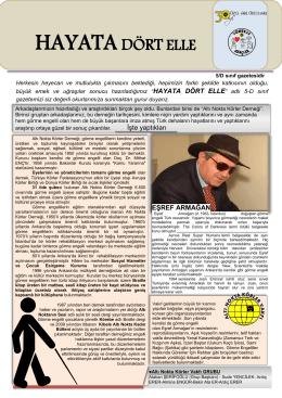 Hayata Dört Elle 5D Gazetesi için tıklayınız.
