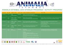 anımalıa ıstanbul 2014-etkinlik programı / actıvıty program