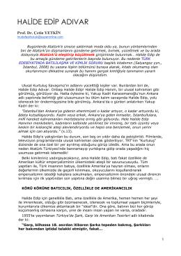 halıde_edıp_adıvar… - Prof. Dr. Ahmet SALTIK