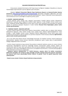 2004 yılı ilan çalışması için - Balıkesir Üniversitesi Rektörlüğü