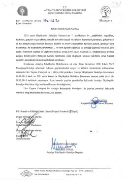 Gündemin 4.Maddesi - Antalya Belediyesi