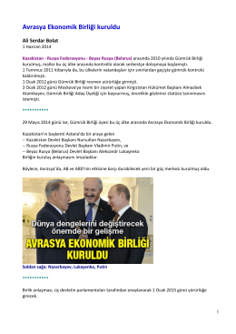 Avrasya_Ekonomik_Birligi_kuruldu