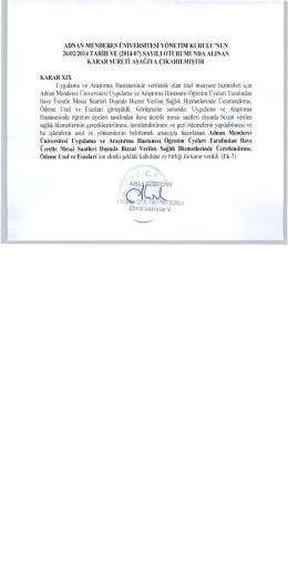f AgLJ GİBİDİR - Aydın Adnan Menderes Üniversitesi Uygulama ve