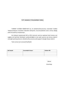 teyit araması yetkilendirme formu