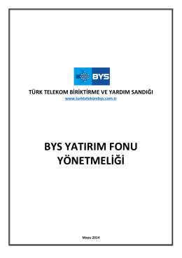 BYS Yatırım Fonu Yönetmeliği
