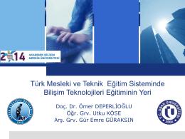 mesleki ve teknik eğitim - Akademik Bilişim Konferansları