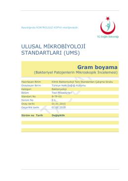 Gram boyama - Türkiye Halk Sağlığı Kurumu