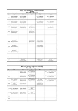 MYO - Büro Hizmetleri ve Yönetici Asistanlığı 1. Sınıf Haftalık Ders