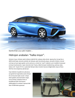 """Hidrojen arabaları """"halka iniyor""""."""