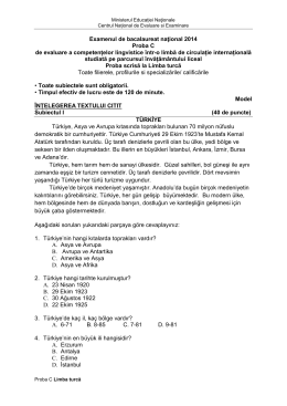 Examenul de bacalaureat naţional 2014 Proba C de