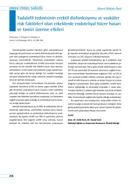 Tadalafil tedavisinin erektil disfonksiyonu ve vasküler