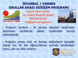 Vannes Saint Paul Lisesi ile Değişim Programı