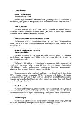 Temel İlkeler: Genel Organizasyon İlke 1: Kanuni Temel