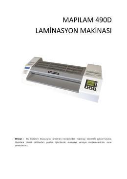 mapılam 490d laminasyon makinası