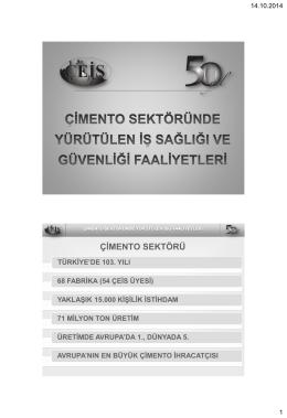 Sertaç Bora ÖZYURT – Türk Çimento Sektörünün İSG