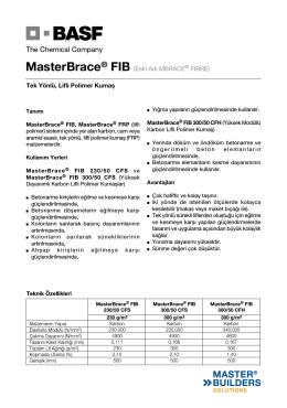 MasterBrace® FIB (Eski Adı MBRACE® FIBRE) Tek Yönlü
