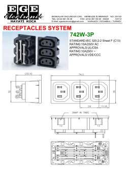 RECEPTACLES SYSTEM 742W-3P