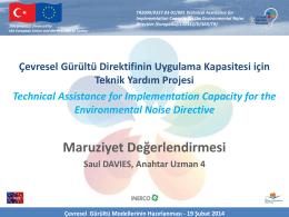 Maruziyet Değerlendirmesi - Çevresel Gürültü Direktifinin Uygulama