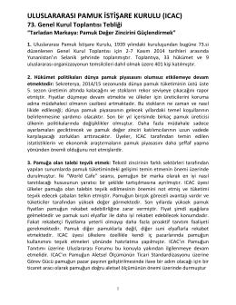 ULUSLARARASI PAMUK İSTİŞARE KURULU (ICAC)