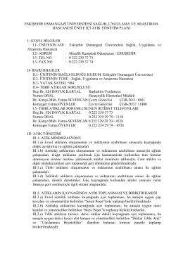 eskişehir osmangazi üniversitesi sağlık, uygulama ve araştırma