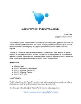 PureVPN Modül Dokümantasyonu [pdf]