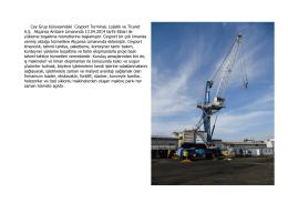 Cey Grup bünyesindeki Ceyport Terminal, Lojistik ve Ticaret A.Ş