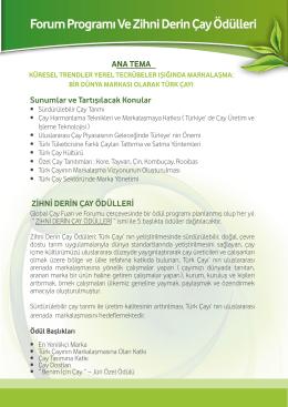 Forum Programı Ve Zihni Derin Çay Ödülleri fili