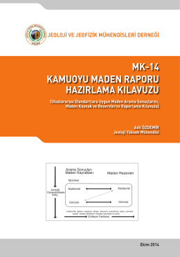 mk-14 kamuoyu maden raporu hazırlama kılavuzu
