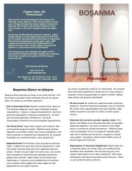 BOŞANMA - Urla Psikoterapi Merkezi