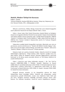KİTAP İNCELEMELERİ - Pamukkale Üniversitesi