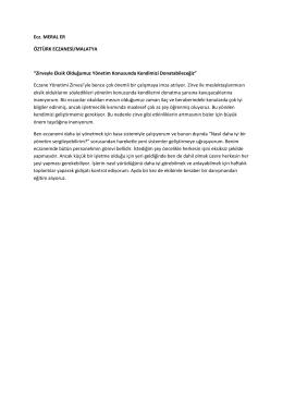 Ecz. MERAL ER ÖZTÜRK ECZANESİ/MALATYA