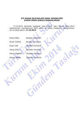 Ekim2014_SendikaGündemTaslağı - Türk Enerji-Sen